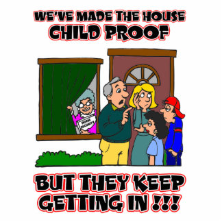 Funny Cartoon - Families & Children Who Come Home Cutout