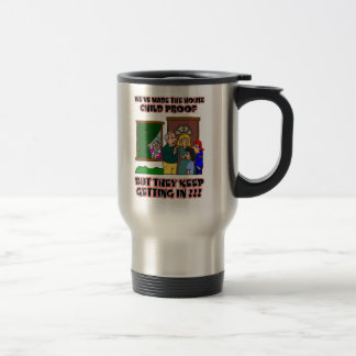Funny Cartoon - Families & Children Who Come Home 15 Oz Stainless Steel Travel Mug