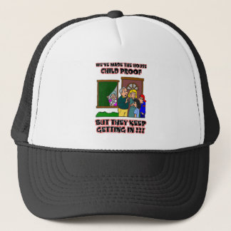 Funny Cartoon - Families & Children Who Come Home Trucker Hat