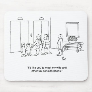 Funny Cartoon Family Accountant Gift! Mouse Pad