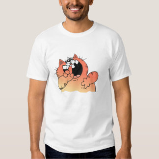 Funny Cartoon Fat Cat   Funny LOL Fat Cat T Shirt