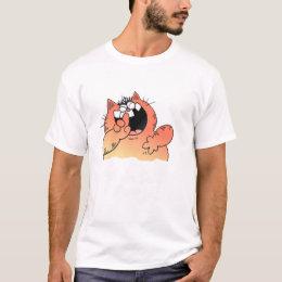 Funny Cartoon Fat Cat   Funny LOL Fat Cat T-Shirt