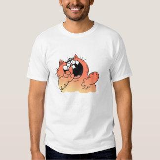 Funny Cartoon Fat Cat   Funny LOL Fat Cat Tee Shirts