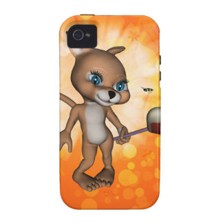 Funny cartoon figure with bee case for the iPhone 4