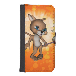 Funny cartoon figure with bee iPhone 5 wallets