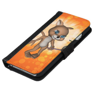 Funny cartoon figure with been iPhone 6 wallet case
