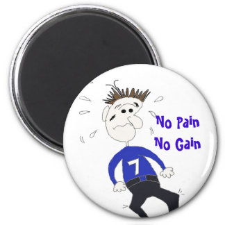 Funny Cartoon Fitness Character Magnet