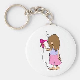 Funny Cartoon for Sleepyheads Basic Round Button Keychain