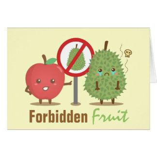Funny Cartoon, Forbidden Fruit, Apple and Durian Card