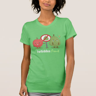 Funny Cartoon, Forbidden Fruit, Apple and Durian Shirt