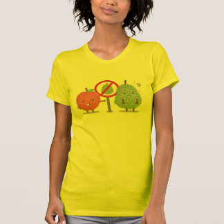 Funny Cartoon, Forbidden Fruit, Apple and Durian T Shirt