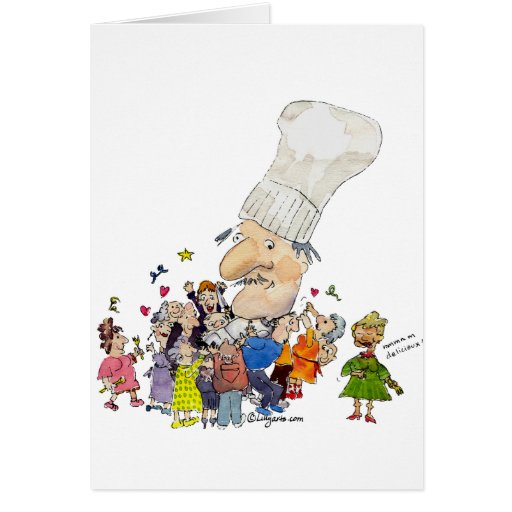 Funny Cartoon French Chef Card