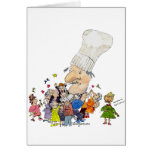 Funny Cartoon French Chef Greeting Cards