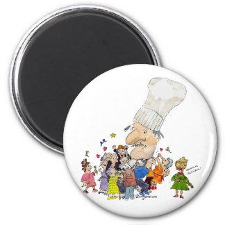 Funny Cartoon French Chef Magnets