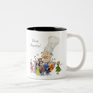 Funny Cartoon French Chef Personalized Mugs