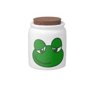 Funny Cartoon Frog Candy Jars