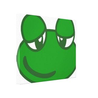Funny Cartoon Frog Canvas Print