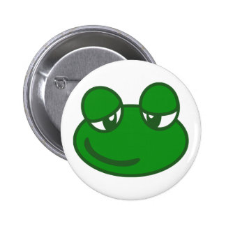 Funny Cartoon Frog Pinback Buttons