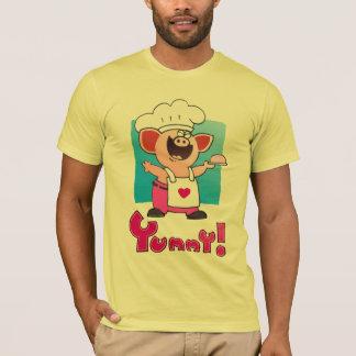 Funny Cartoon | Funny Cartoon Pig Chef T-Shirt