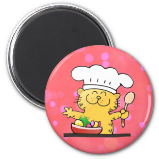 Funny Cartoon | Funny Kitty Chef Fridge Magnets