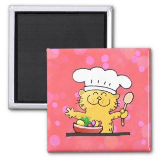 Funny Cartoon   Funny Kitty Chef Fridge Magnets