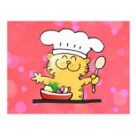 Funny Cartoon | Funny Kitty Chef Post Cards