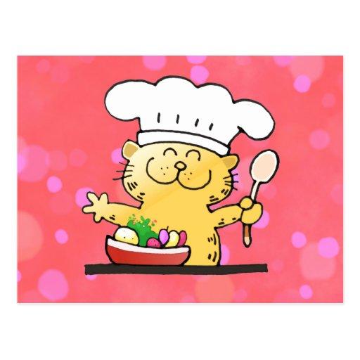 Funny Cartoon | Funny Kitty Chef Post Cards