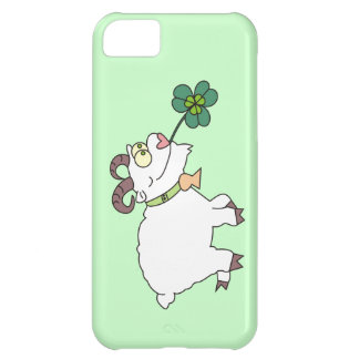 Funny Cartoon Goat and Clover Irish iPhone 5 Cases