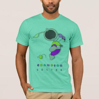 Funny Cartoon Golfer | Cute Cartoon Kid Golfer T-Shirt