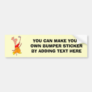 Funny Cartoon Golfer T-shirts and Gifts Bumper Sticker
