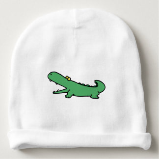 Funny cartoon green crocodile baby beanie