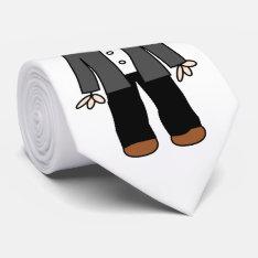 Funny Cartoon Groom Neck Tie at Zazzle