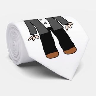 Funny cartoon groom neck tie
