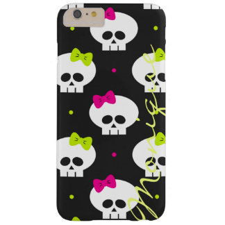 funny cartoon halloween skulls with name barely there iPhone 6 plus case