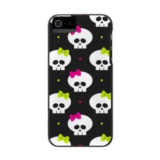funny cartoon halloween skulls with name incipio watson™ iPhone 5 wallet case