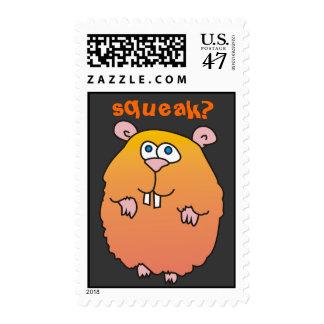 Funny Cartoon Hamster Postage Stamp