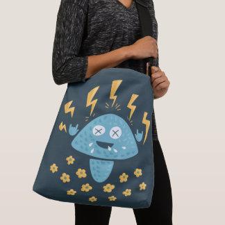 Funny Cartoon Hard Rock Mushroom Crossbody Bag