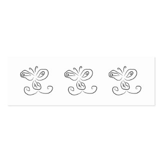 Funny Cartoon Insect Face Double-Sided Mini Business Cards (Pack Of 20)