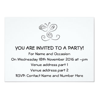 Funny Cartoon Insect Face 4.5x6.25 Paper Invitation Card