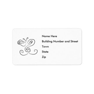 Funny Cartoon Insect Face Address Label