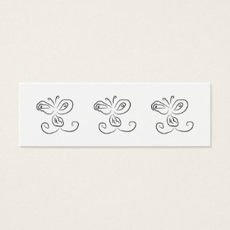 Funny Cartoon Insect Face Mini Business Card