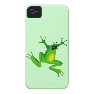 Funny Cartoon Jumping Frog Animal iPhone 4 Case-Mate Cases