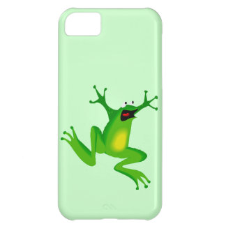 Funny Cartoon Jumping Frog Animal Going Wild Kids iPhone 5C Cover