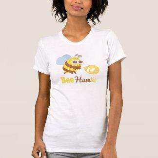 Funny Cartoon: Kawaii Yellow & Brown Bee Humming T-Shirt