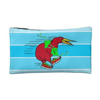 Funny Cartoon Kiwi Bird Wearing Red Running Shoes Makeup Bag