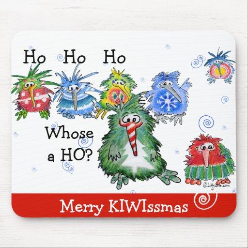 Funny Cartoon Kiwi Christmas Gift Mousepad