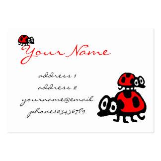 funny cartoon ladybugs large business card