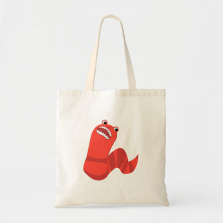 Funny Cartoon Mongolian Death Worm Tote Bag