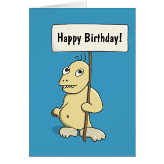Funny Cartoon Monster With Cookie Personalized Card