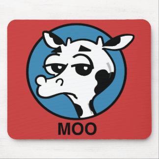FUNNY CARTOON MOO COW MOUSEPAD